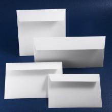 Луксозен плик Бианко. Италианска матова релефна (райе) хартия, бяло. Цена 0.80 лв.