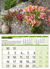 Календар Цветя 2017–разтвор