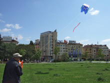Снимки с хвърчило пред НДК
