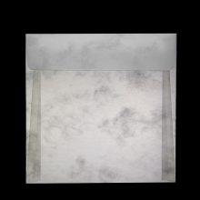Плик от паус, квадратен, с прав капак. Полу-прозрачен паус с десен на облаци (опушен паус), 120 г.