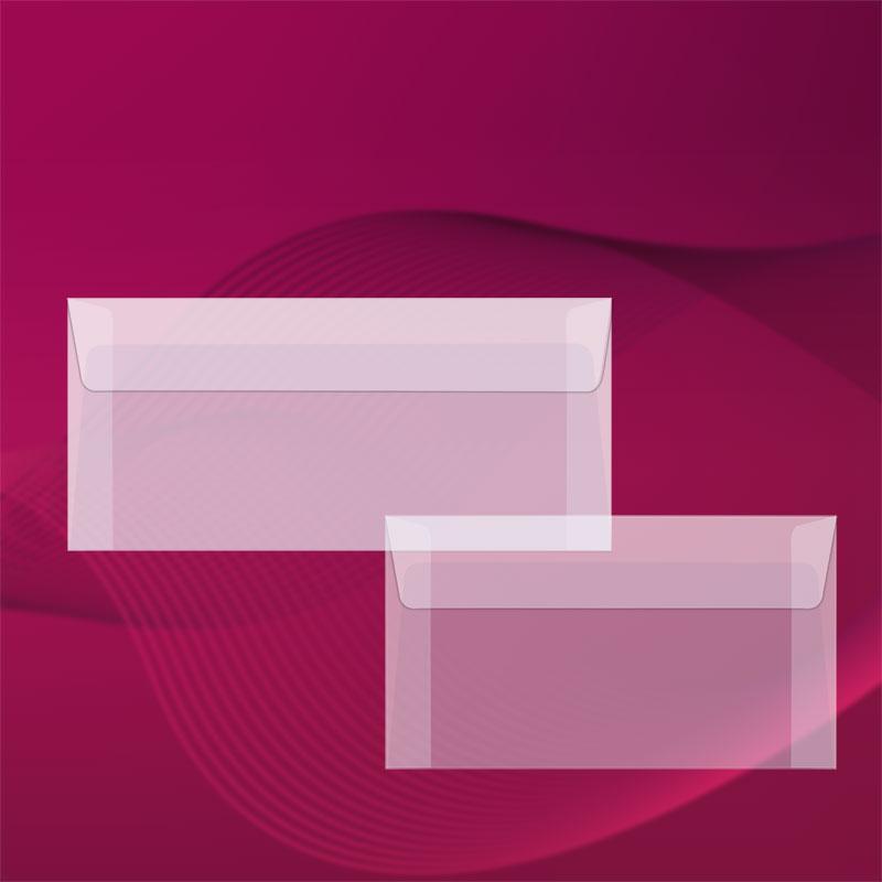 Пликове от паус, правоъгълни, с прав капак. Прозрачен паус, 90 г.